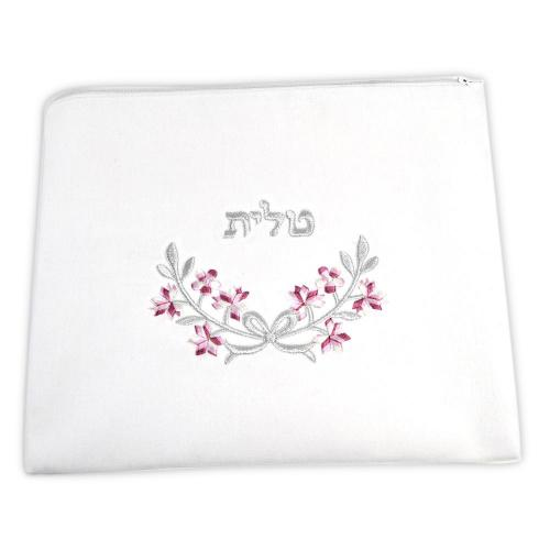 Zion Talis Pink And Silver Floral Talis Bag