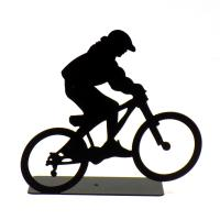 Extreme Bike Rider Front Wheel Up Sculpture - Made In Israel