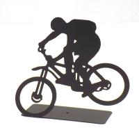 Extreme Bike Rider Rear Wheel Up Sculpture - Made In Israel