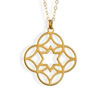 Gold Plated Abstract Star Of David Necklace