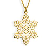 Gold Plated Victorian Star Of David Necklace