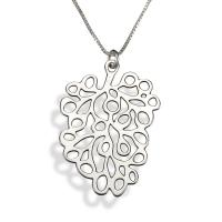 Sterling Silver Artistic Flowing Circles Necklace