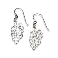 Sterling Silver Bunches Of Grapes Drop Earrings