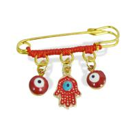 Red Hamsa Evil Eye Good Luck Pin